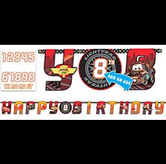 ©Disney Cars Formula Racer Jumbo Add-An-Age Letter Banner