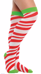 Candy Stripe Over-The-Knee Socks