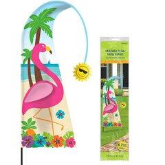 Flamingo Feather Flag Yard Stake