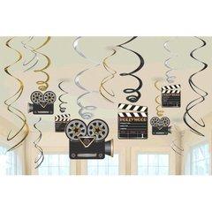 Lights! Camera! Action! Value Pack Foil Swirl Hanging Decorations