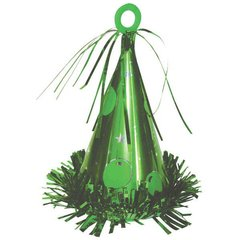 Party Hat Balloon Weight - 09 Green