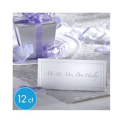 White Printable Wedding Place Cards 12ct