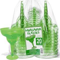 Transparent Green Plastic Margarita Glasses 8oz 20ct
