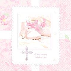 Tiny Blessing Pink Beverage Napkins Pink 36ct