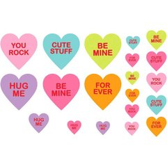 Candy Hearts Mega Value Pack Cutouts - Printed Paper