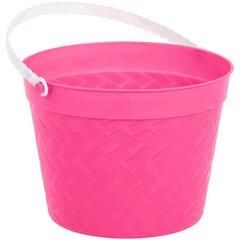 Weave Plastic Bucket - Pink