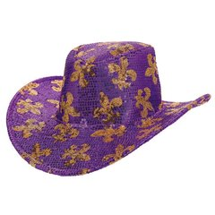 Mardi Gras Sequined Cowboy Hat
