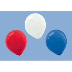 Red, White & Blue Latex Balloons
