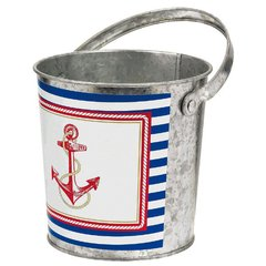 Anchors Aweigh Galvanized Bucket