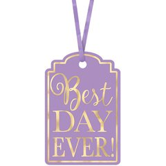 Best Day Ever Printed Tags - Lavender