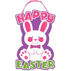Easter Large Sign with Ribbon Hanger