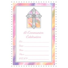 Communion Pink Value Pack Invitations