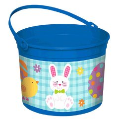 Boy Bunny Large Plastic Bucket