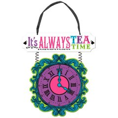 Mad Tea Party Deluxe Hanging MDF Sign