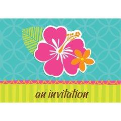 Hibiscus Splash Folded Invitations 50ct