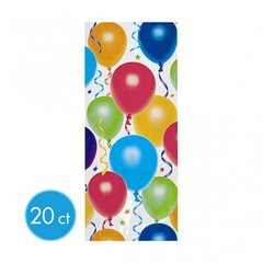 Balloons & Stars Large Party Bags 20ct