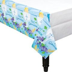 First Communion Blue Paper Table Cover