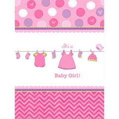 Shower with Love Girl Plastic Tablecover