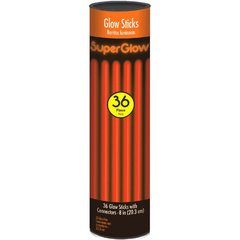 "8"" Glow Stick Tube - Orange, 36 ct."