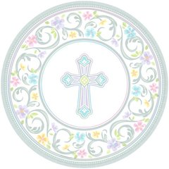 Blessed Day Round Plates, 10 1/2""
