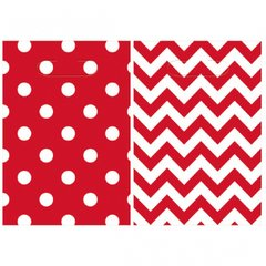 Chevron Loot Bags - Apple Red