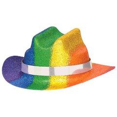 Rainbow Glitter Mini Cowboy Hat