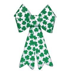 St. Patrick's Day Decorative Bow w/ Glitter