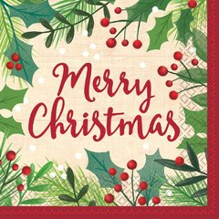Merry Holly Day Dinner Napkins