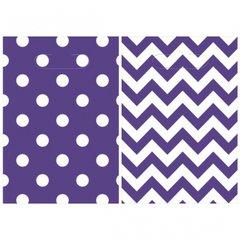 Chevron Loot Bags - New Purple