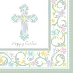 Blessed Day Happy Easter Luncheon Napkins