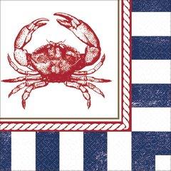 Anchors Aweigh Crab Beverage Napkins
