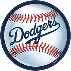 Los Angeles Dodgers Round Plates, 9""