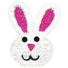 3D Tinsel Bunny Decoration