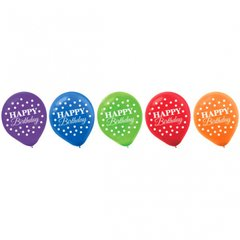 Bright Birthday Printed Latex Balloons