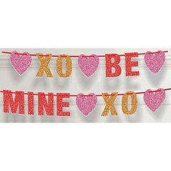 Be Mine Glitter Ribbon Letter Banner