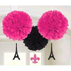 Day in Paris Fluffies w/Glitter Danglers