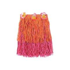 Child Warm Two-Tone Mini Hula Skirt