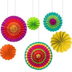 Fiesta Assorted Paper Fan Decorations
