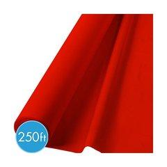 """Apple Red Jumbo Plastic Table Roll, 40"""" x 250'"""