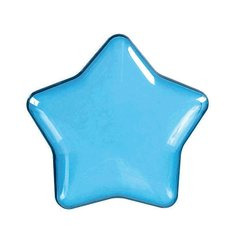 Blue Star-Shaped Plastic Container