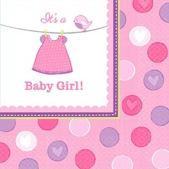 Shower with Love Girl Luncheon Napkins