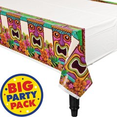 Tropical Tiki Plastic Table Cover
