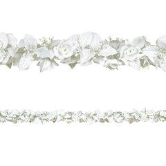 White Rose & Leaf Garland