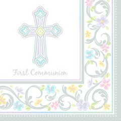 Blessed Day Communion Beverage Napkins