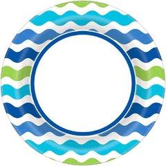 "Cool Wavy Stripe Round Plate, 6 3/4"""