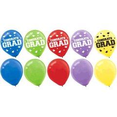 Grad Latex Balloons - Multicolor, 75ct