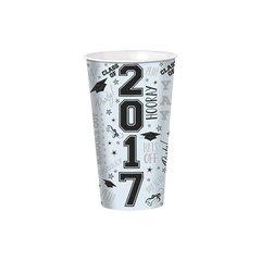 White Grad 2017 Large Plastic Cup