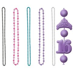 Sweet Sixteen Celebration Party Beads