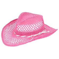 Beach Woven Cowboy Hat Pink