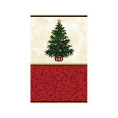 Classic Christmas Tree Paper Table Cover